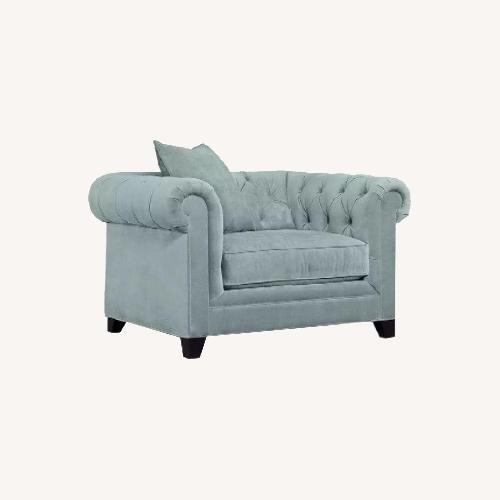 Used Martha Stewart Saybridge Cornflower Blue Chair for sale on AptDeco