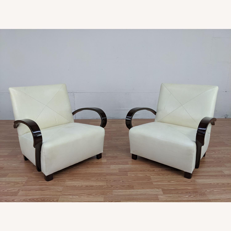 Pair of Vintage Nancy Corzine Armchairs - image-2