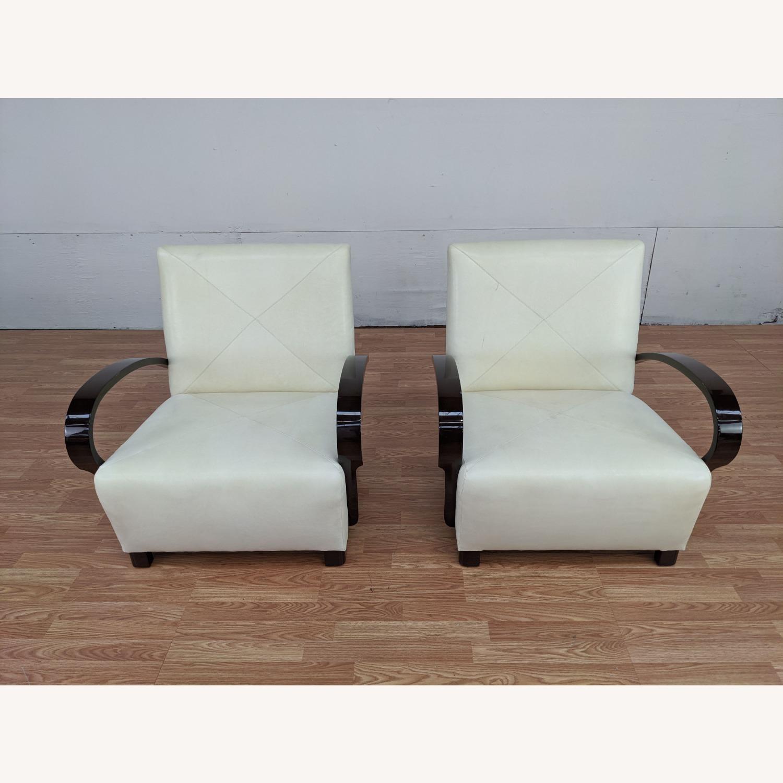 Pair of Vintage Nancy Corzine Armchairs - image-1
