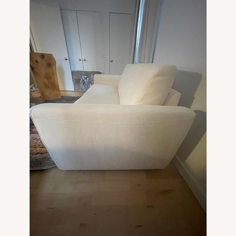 Cream Performance Leather Italian Sleeper Sofa - image-4
