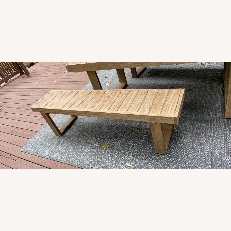 West Elm Portside Outdoor Bench 66 - image-3