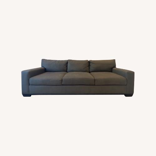 Used Lee Industries Safavieh Graphite Microfiber Sofa for sale on AptDeco