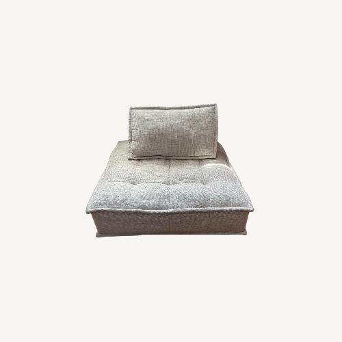 Used White Square Lounge Chair for sale on AptDeco