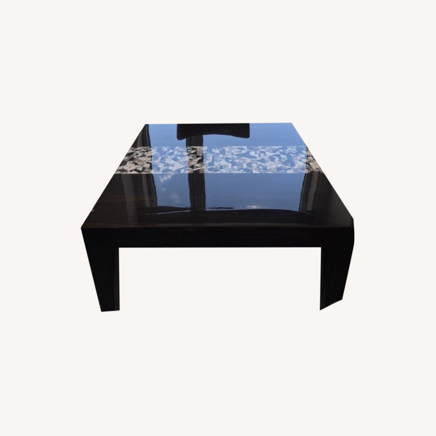 Custom Dining Table with Mother of Pearl Inlay - image-0