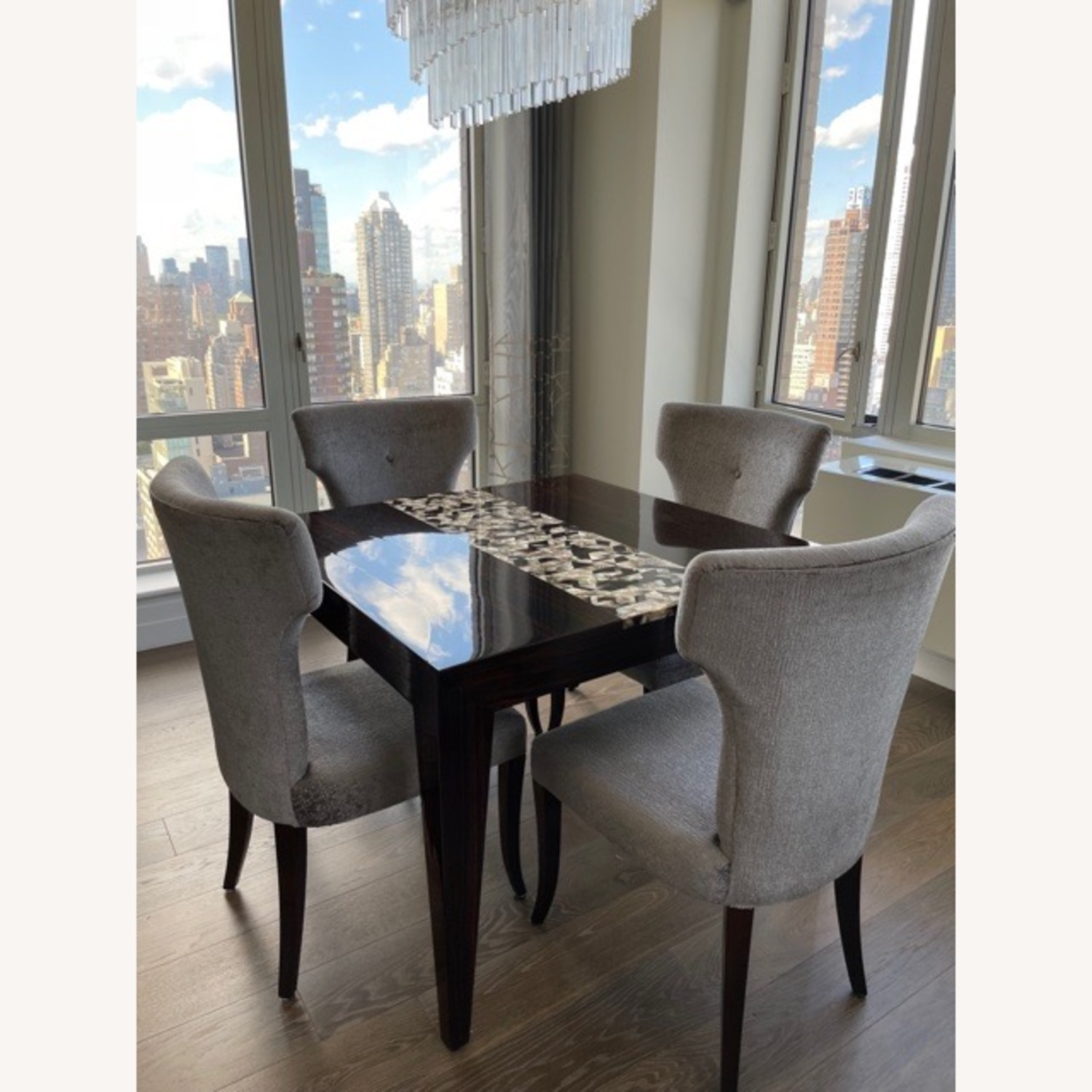 Custom Dining Table with Mother of Pearl Inlay - image-1