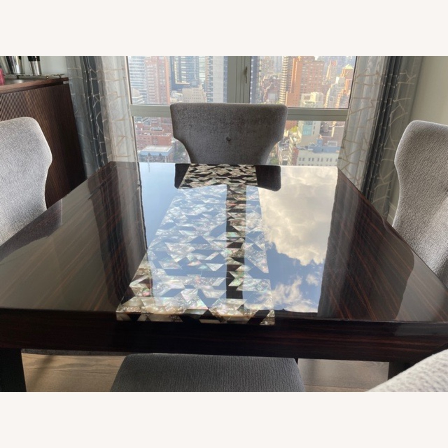 Custom Dining Table with Mother of Pearl Inlay - image-3