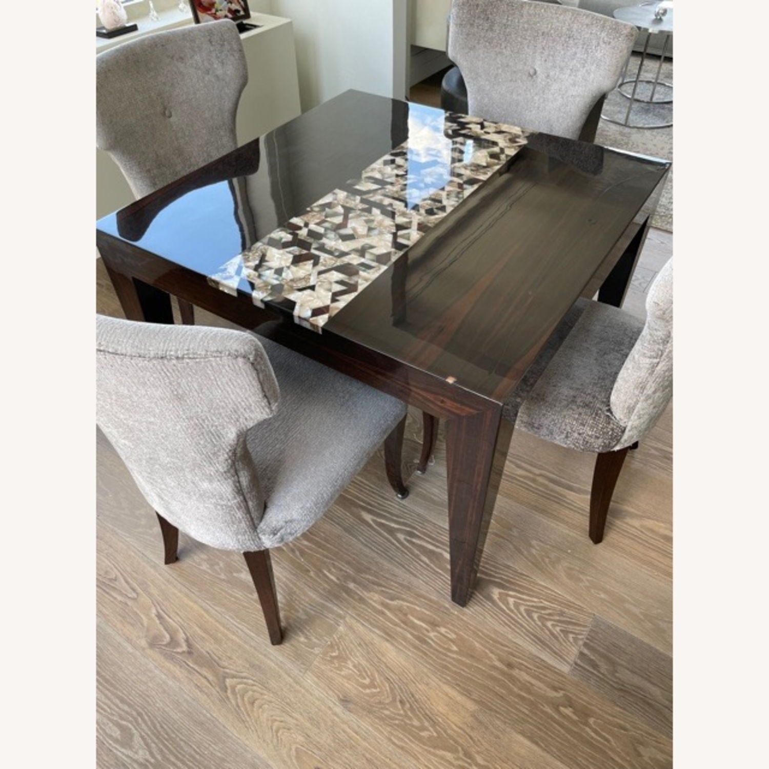Custom Dining Table with Mother of Pearl Inlay - image-4