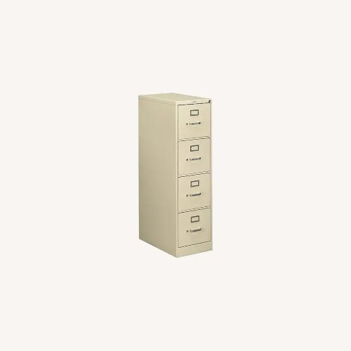 Used 2 HON 4-Drawer Locking Letter-Size File Cabinets for sale on AptDeco