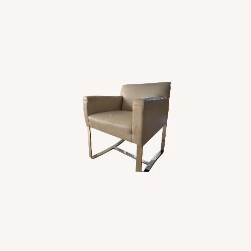 Used Cream leather Dakota Jackson Dining Chairs for sale on AptDeco