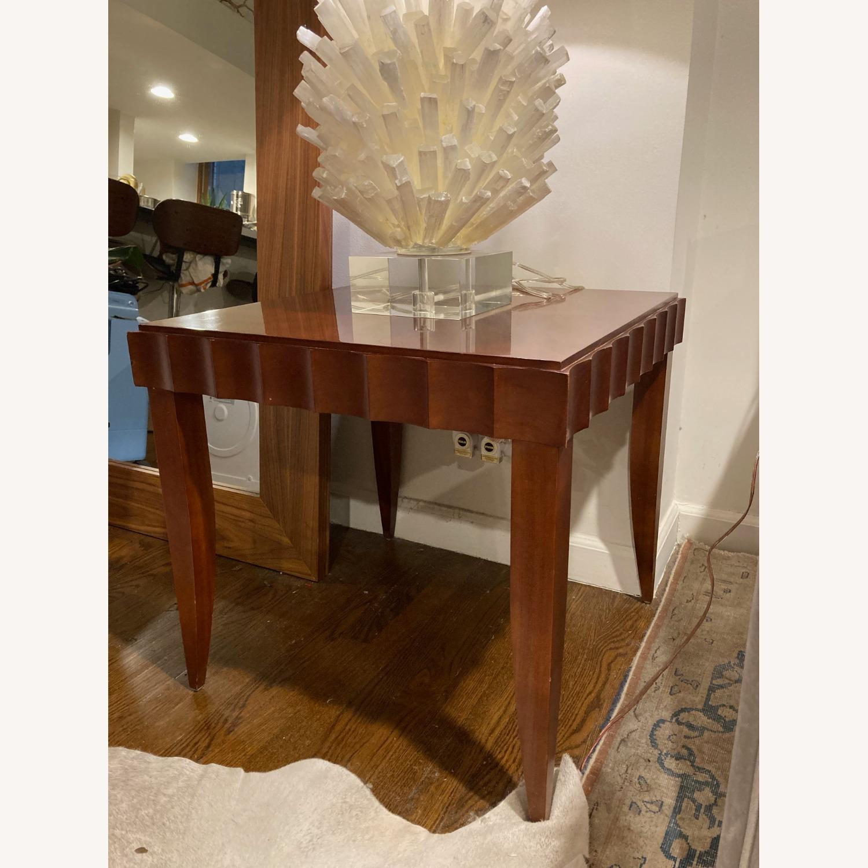 Baker Furniture Wood Side Table - image-1