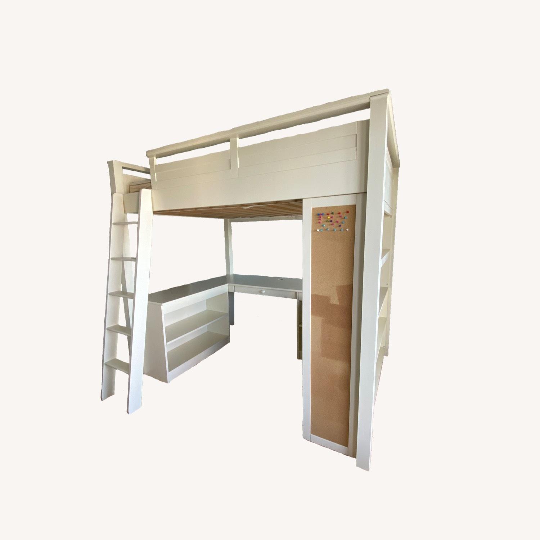 PB Teen Sleep and Study Loft Bed - image-0