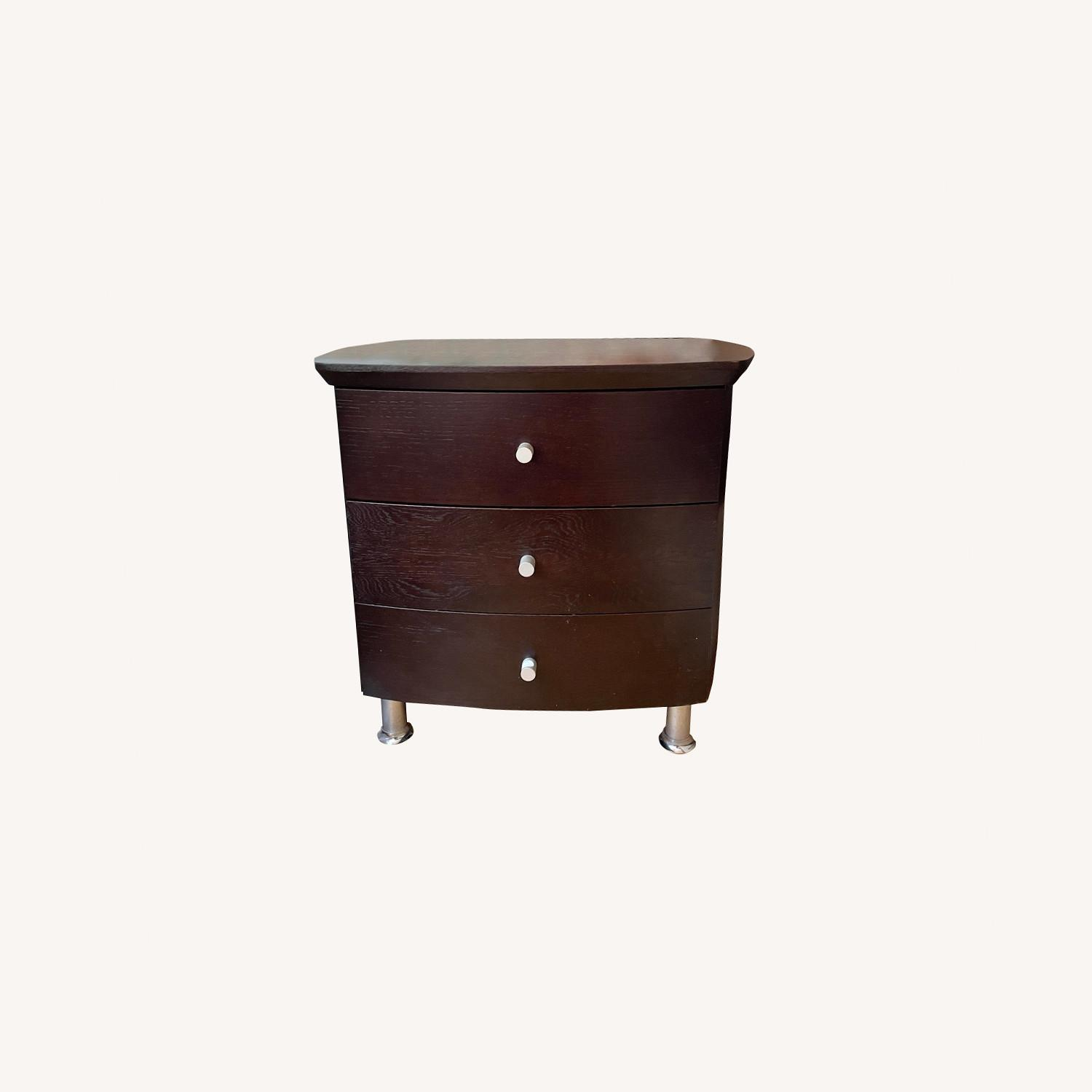 ByDesign 3-Drawer Nightstand with Chrome Legs - image-0