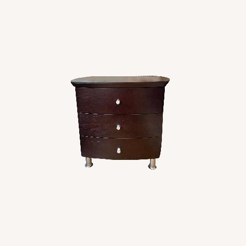 Used ByDesign 3-Drawer Nightstand with Chrome Legs for sale on AptDeco