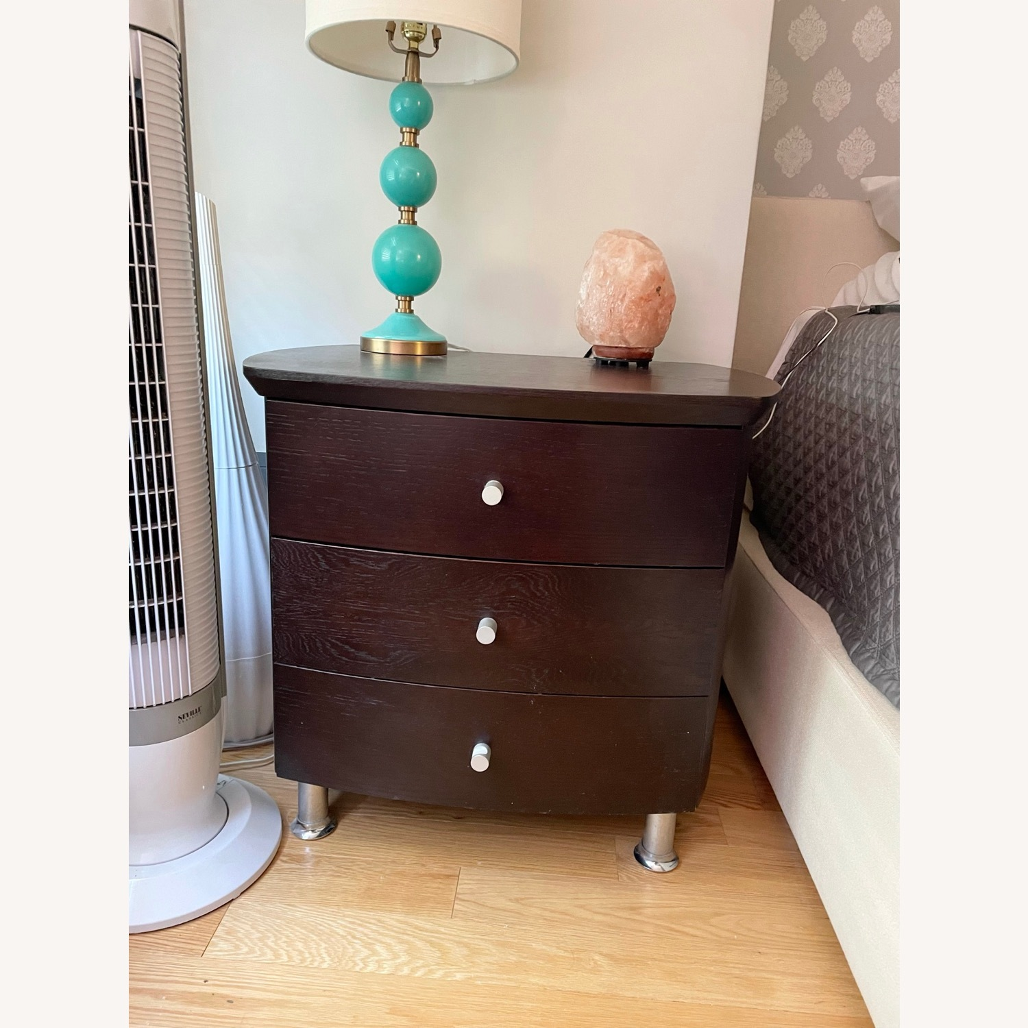 ByDesign 3-Drawer Nightstand with Chrome Legs - image-1