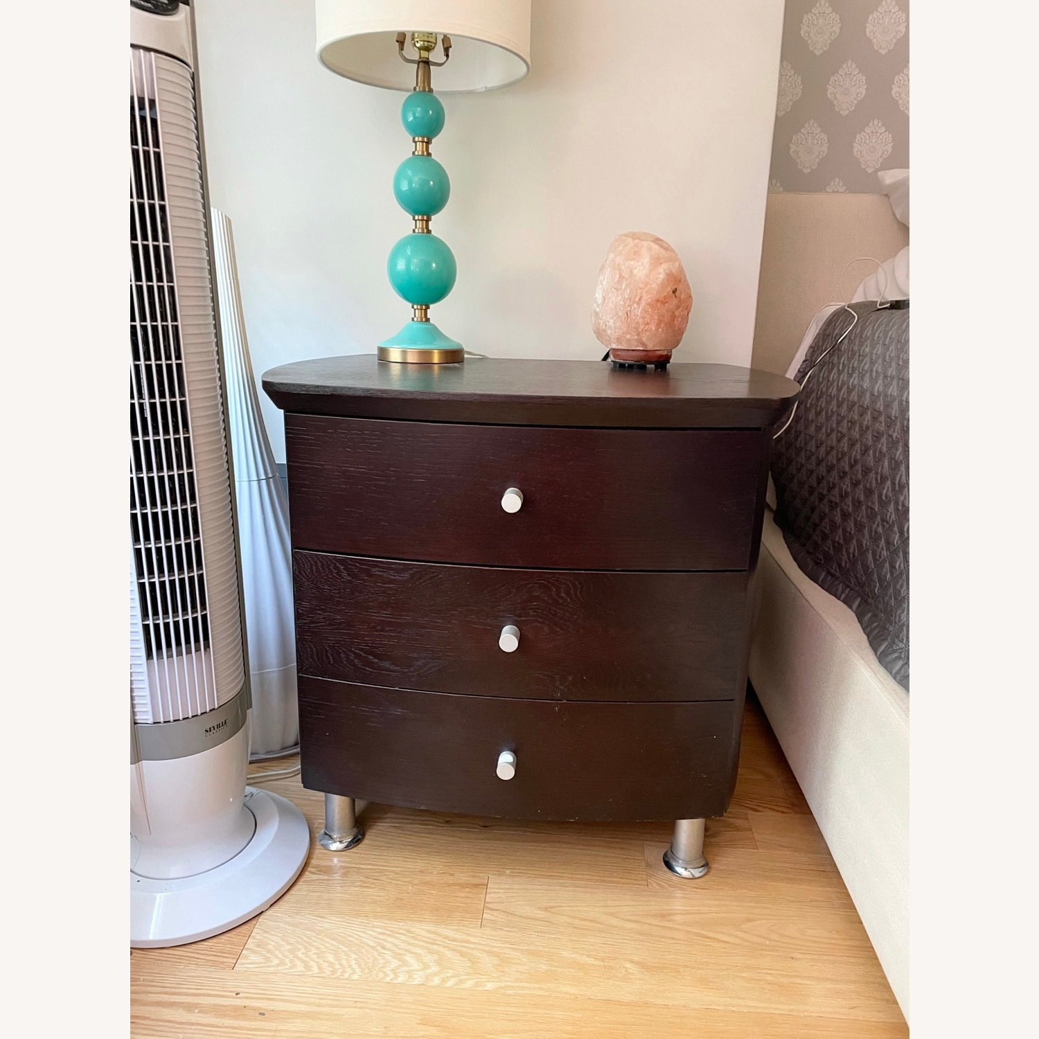 ByDesign 3-Drawer Nightstand with Chrome Legs - image-2