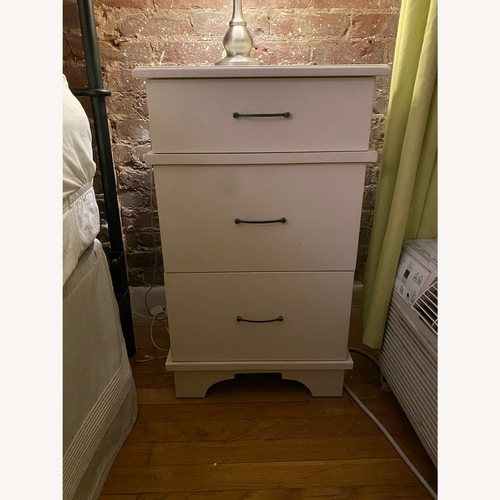 Used Gothic Cabinet Craft Chelsea 3-Drawer Nightstand for sale on AptDeco