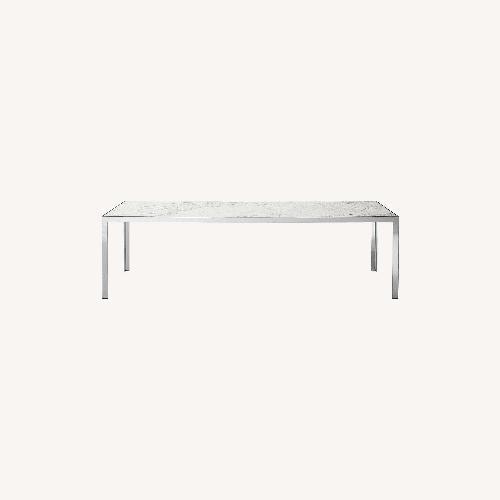 Used B&B Italia Chrome Finish w White Glass Top for sale on AptDeco