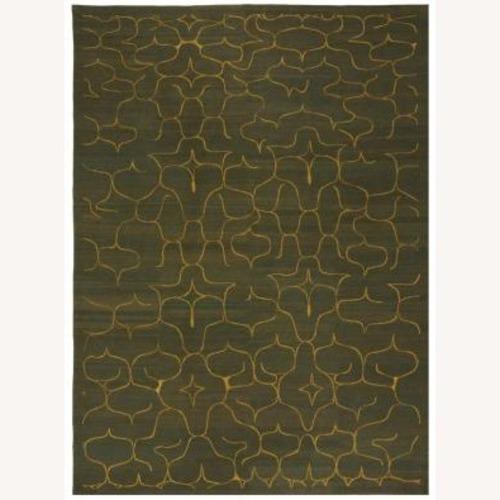 Used Odegard 9 x 12 Himalayan Wool Rug in Spruce for sale on AptDeco