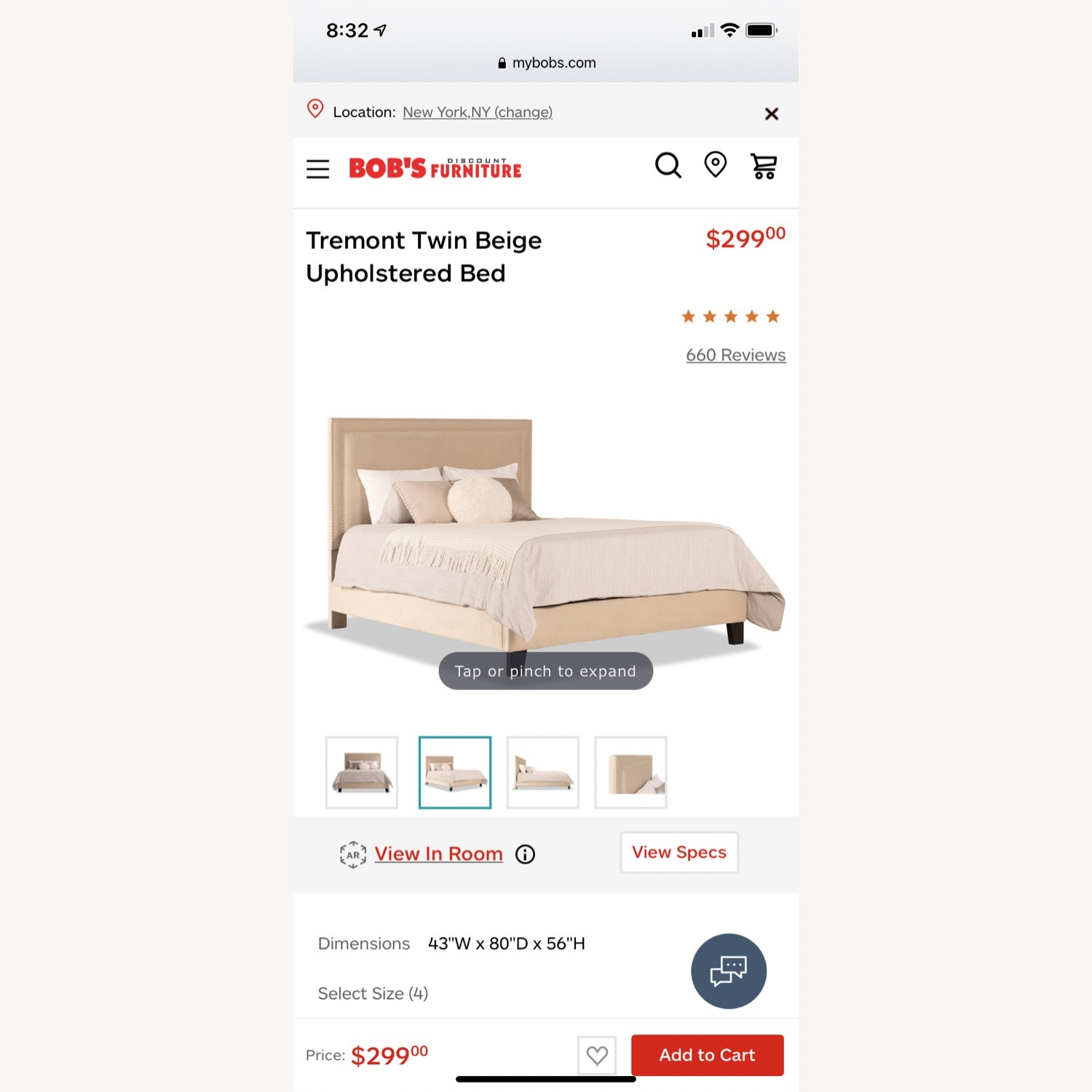 Bob's Discount Furniture Queen Bed Frame - image-4