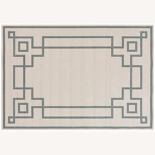 Used Surya Geometric Indoor/Outdoor Rug, Beige and Sage for sale on AptDeco