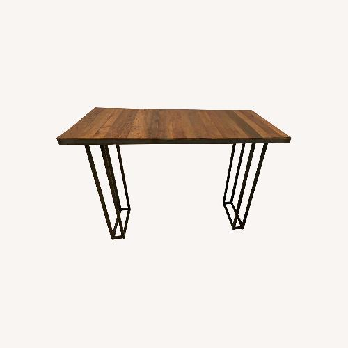 Used From The Source Custom Teak Counter Height Table for sale on AptDeco