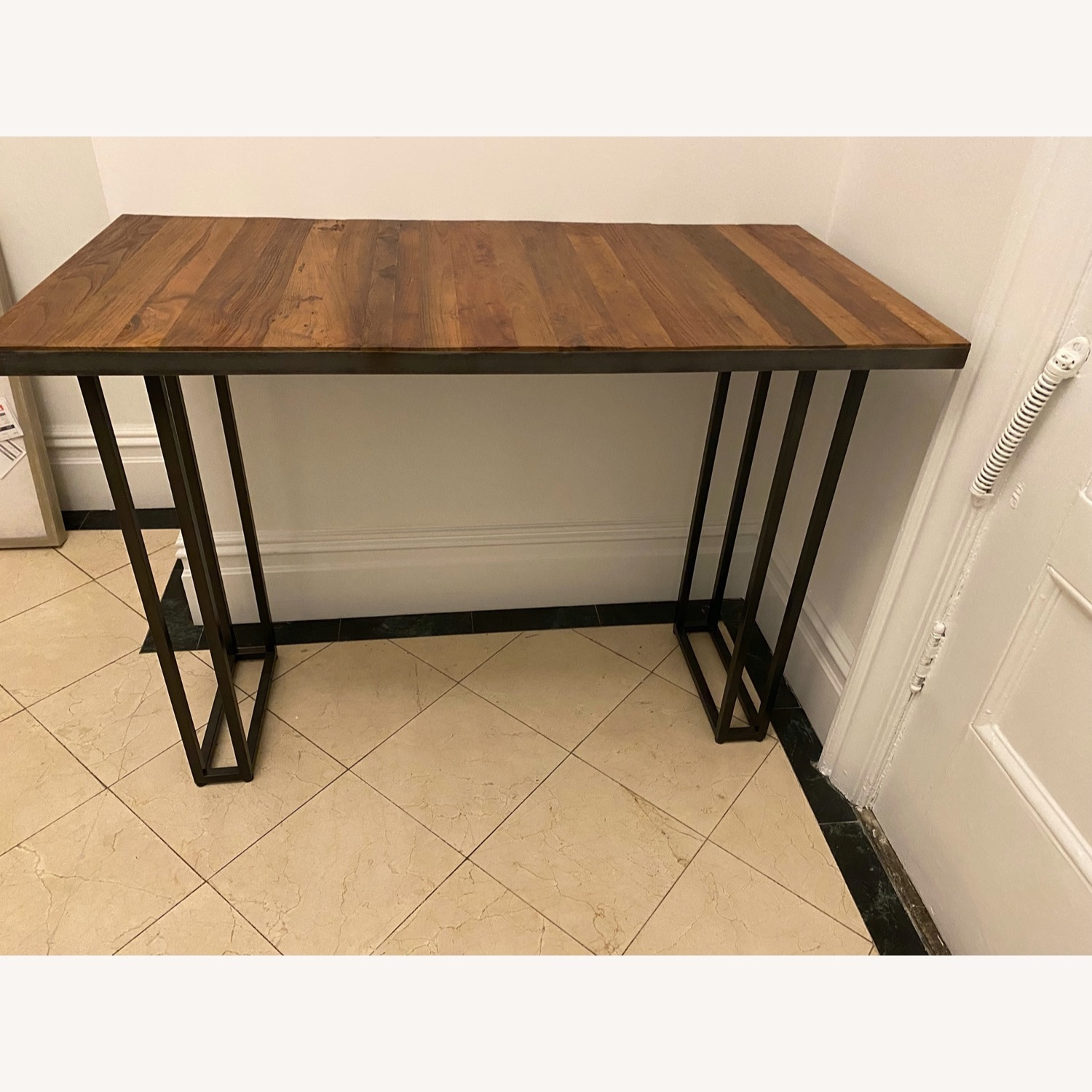 From The Source Custom Teak Counter Height Table - image-1
