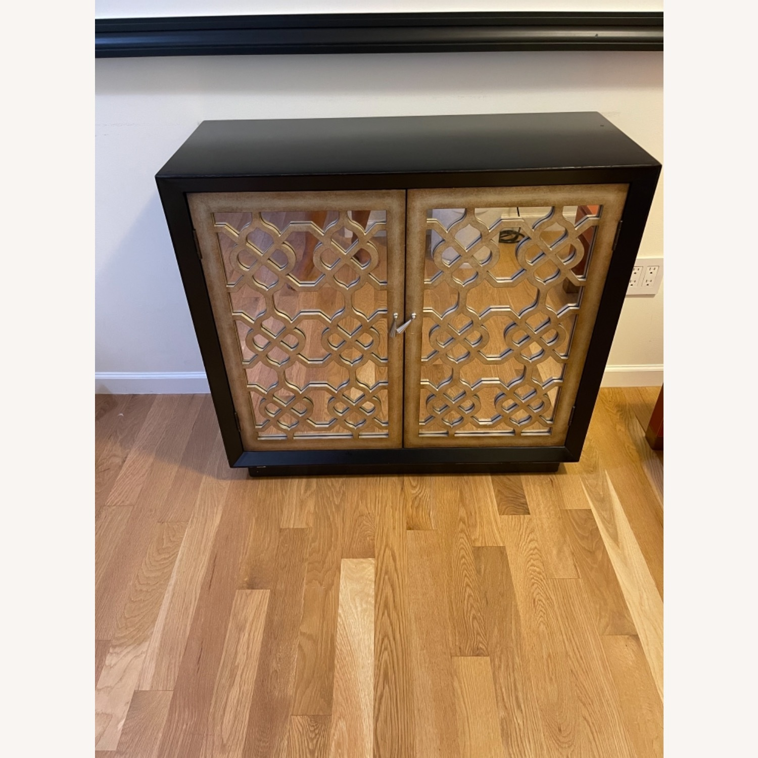 Horchow Black and Gold 2 Door Storage Console/Chest - image-9