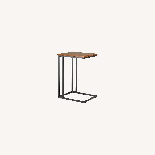 Used Staples Side Table Computer Desk in Espresso Brown Metal for sale on AptDeco
