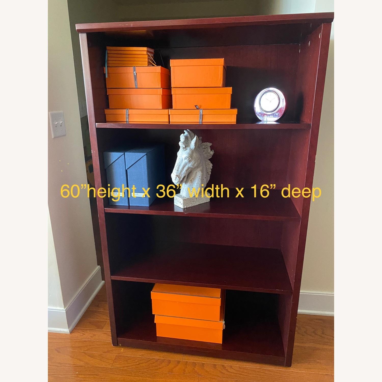 Bookcase, Mahogany-Cherry 3 Shelves - image-1