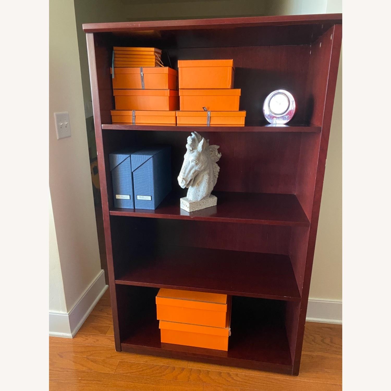 Bookcase, Mahogany-Cherry 3 Shelves - image-2