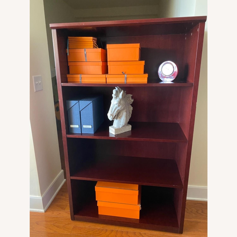 Bookcase, Mahogany-Cherry 3 Shelves - image-5