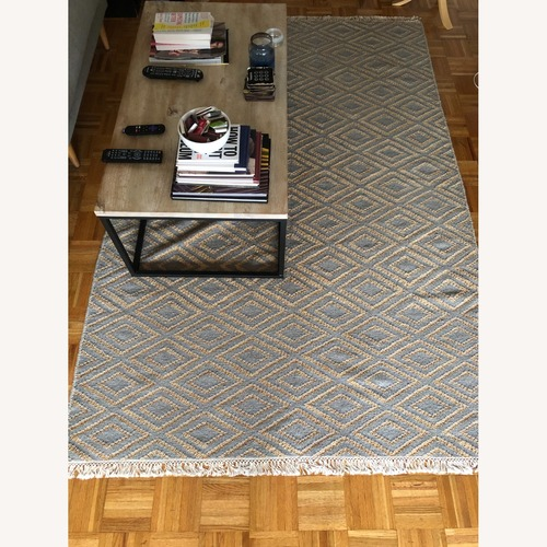 Used One Kings Lane Gray Patterned Rug for sale on AptDeco