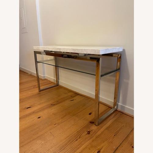 Used Marble & Chrome Sofa/Entry Table for sale on AptDeco