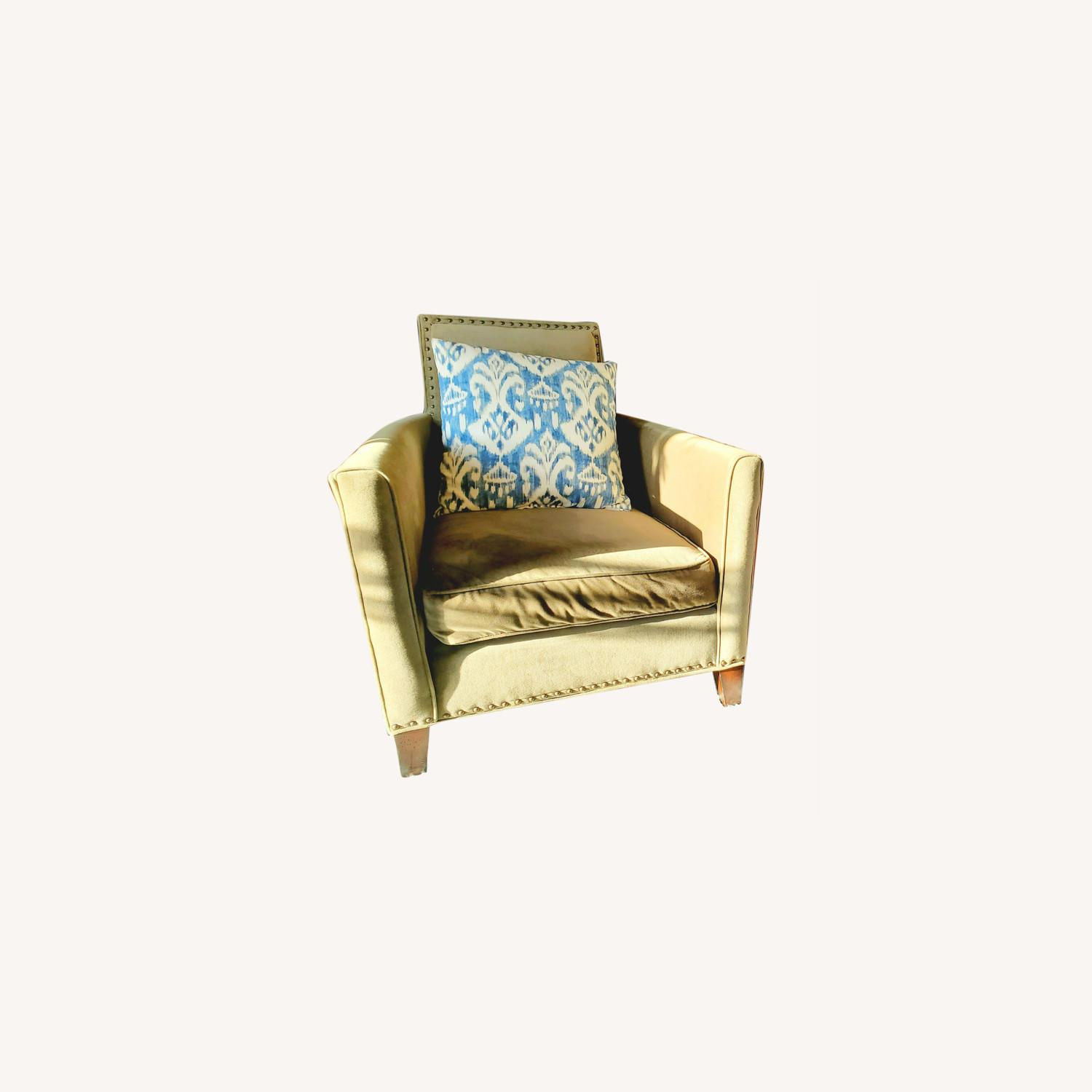 Mitchell Gold + Bob Williams Pair of Velvet Accent Chairs - image-0
