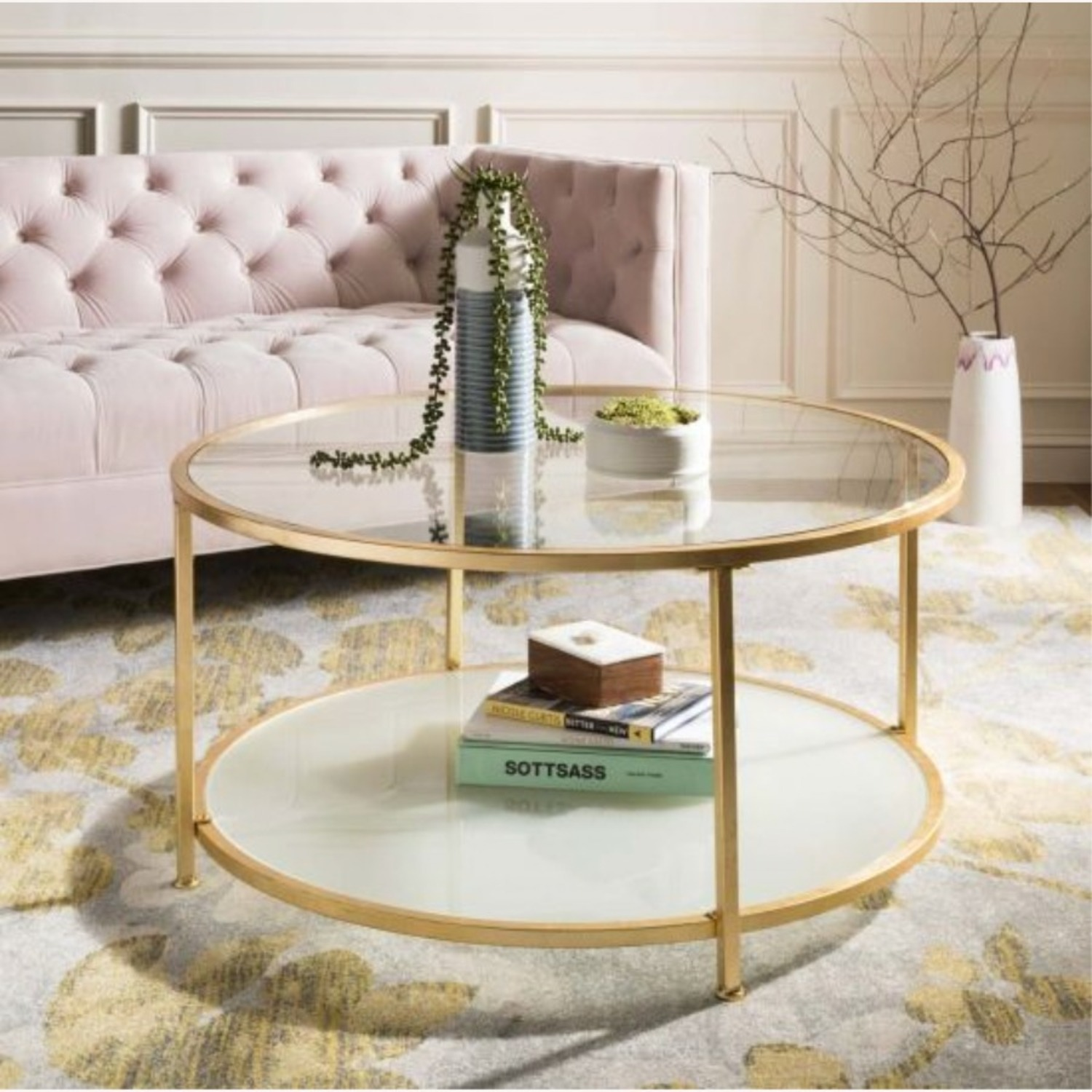 One Kings Lane Savafieh Ivy 2 Tier Round Coffee Table - image-2