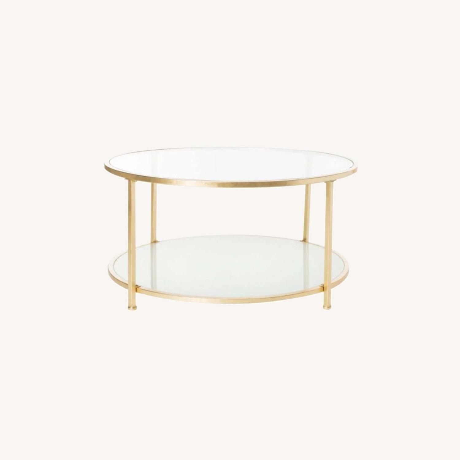 One Kings Lane Savafieh Ivy 2 Tier Round Coffee Table - image-0