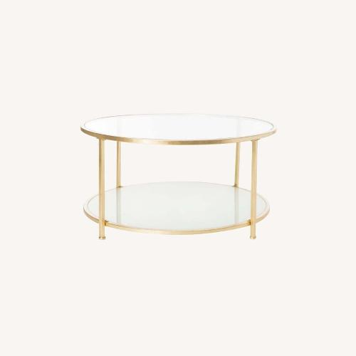 Used One Kings Lane Savafieh Ivy 2 Tier Round Coffee Table for sale on AptDeco
