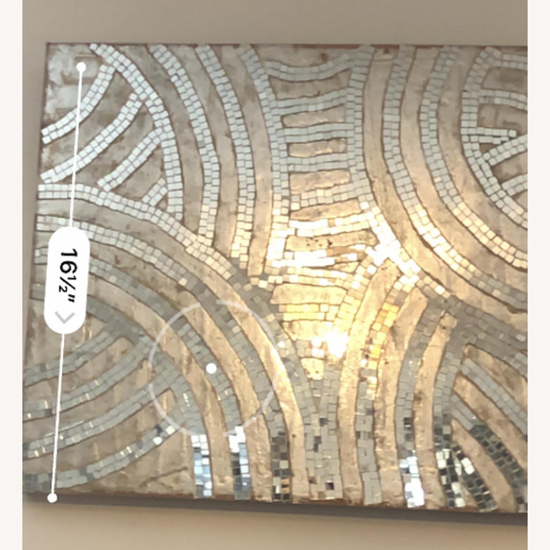 Anthropologie Silver Design Wall Decor - image-2