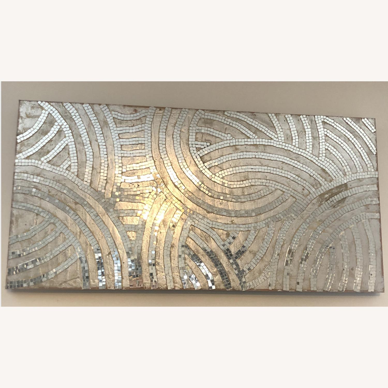 Anthropologie Silver Design Wall Decor - image-1