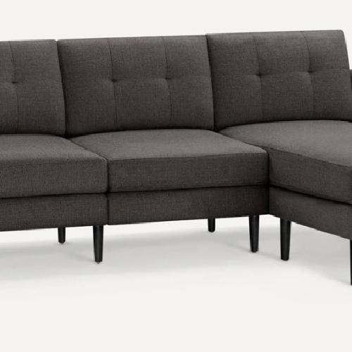 Used Burrow Nomad Gray Chaise Sectional for sale on AptDeco