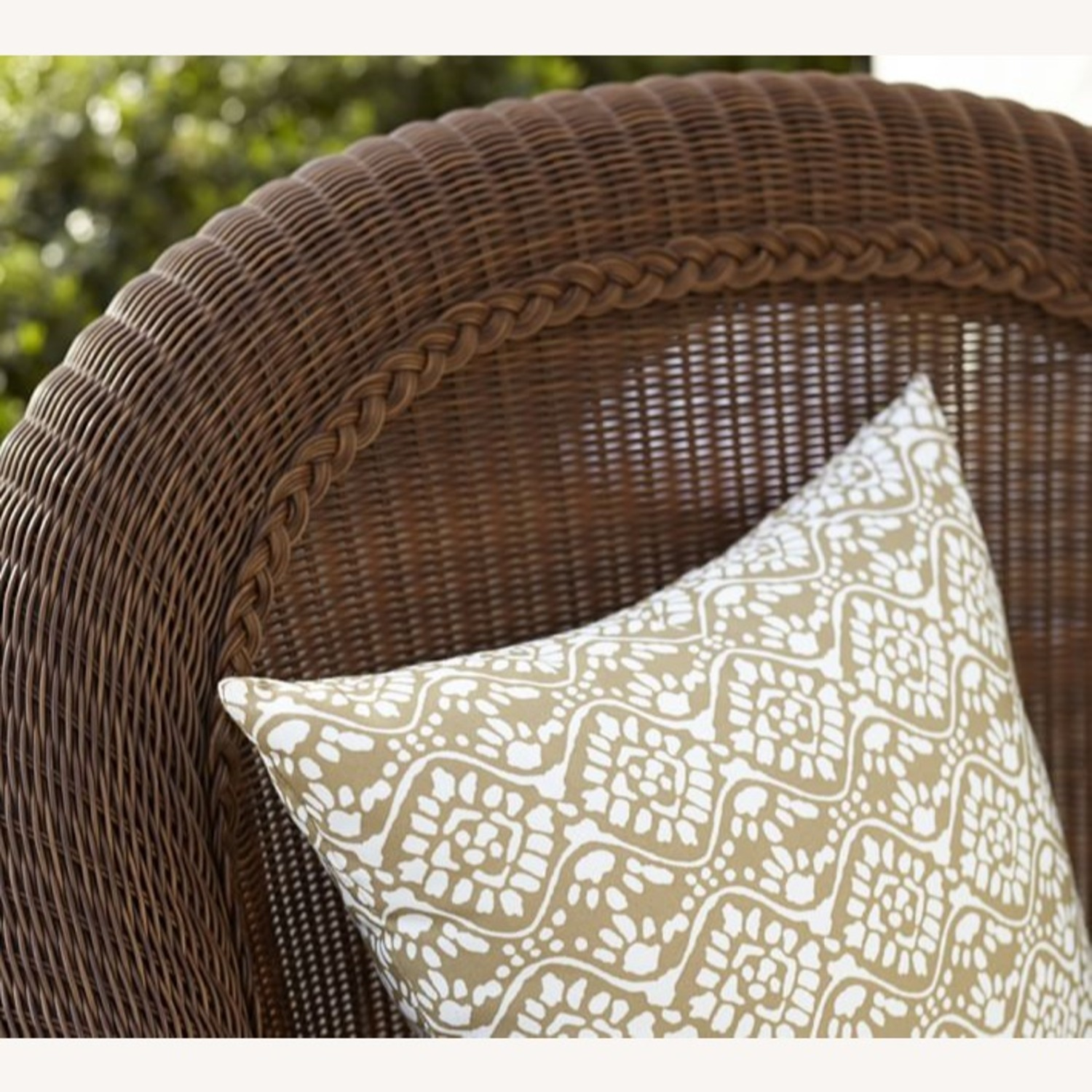 Pottery Barn Palmetto All-Weather Wicker Chair - image-2