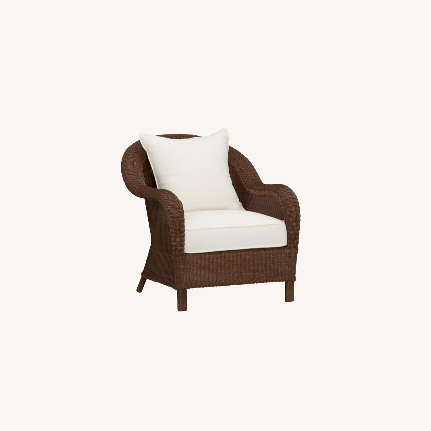 Pottery Barn Palmetto All-Weather Wicker Chair - image-0