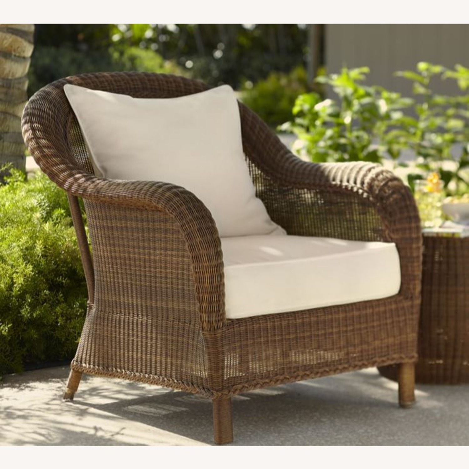 Pottery Barn Palmetto All-Weather Wicker Chair - image-3
