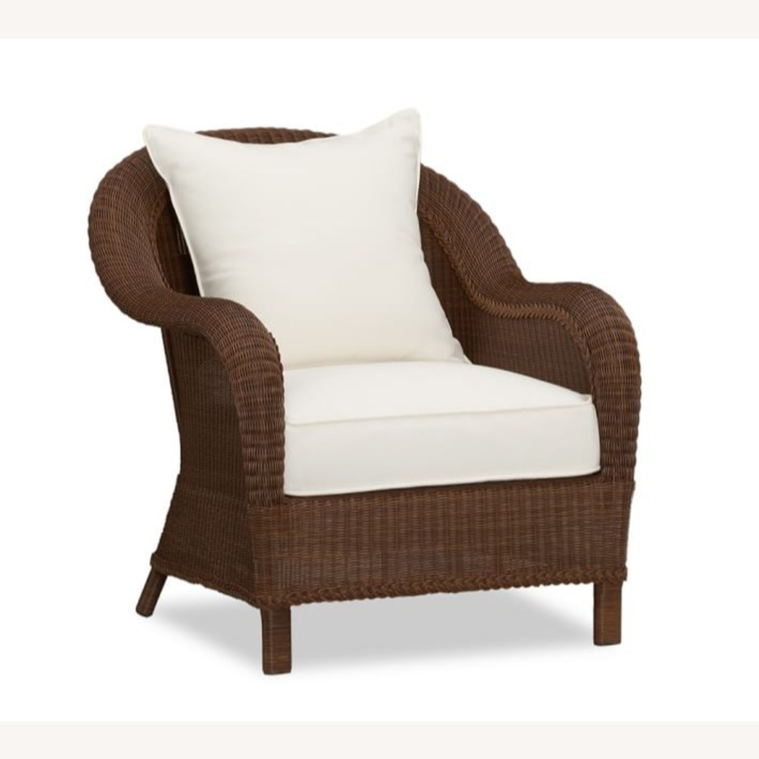 Pottery Barn Palmetto All-Weather Wicker Chair - image-1