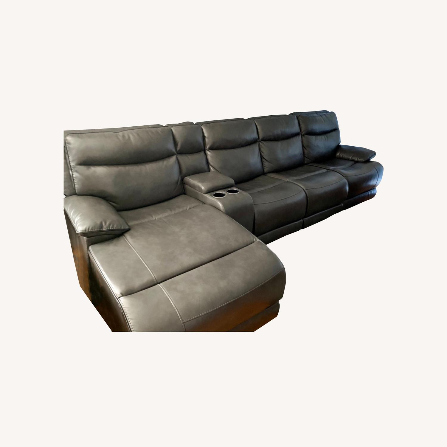 Bobs Furniture Grey Sectional - image-0
