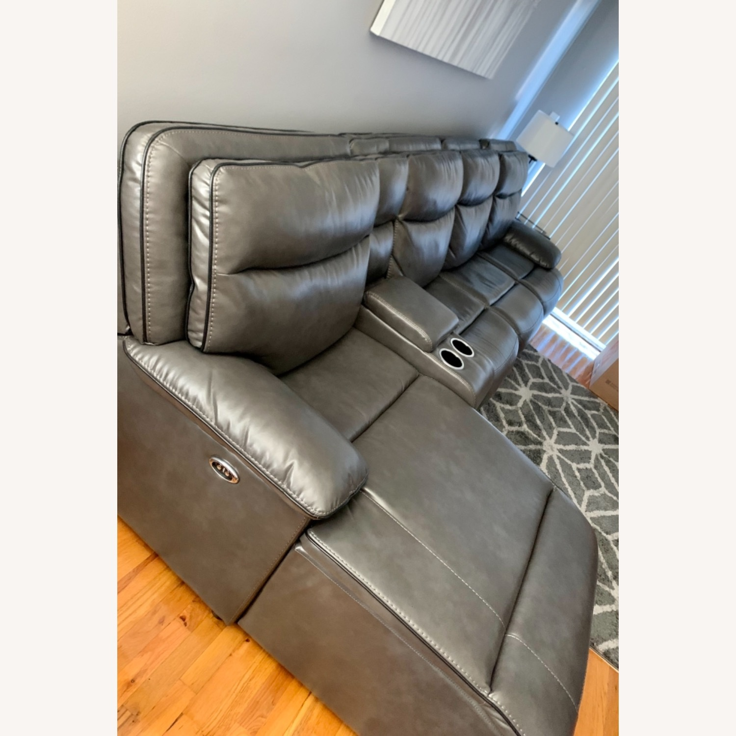 Bobs Furniture Grey Sectional - image-3