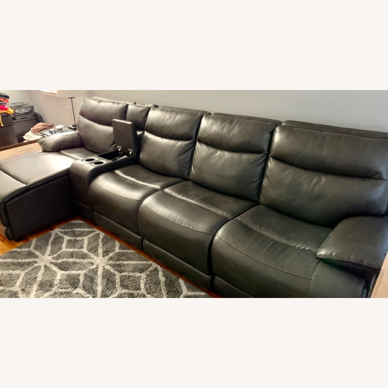 Bobs Furniture Grey Sectional - image-4