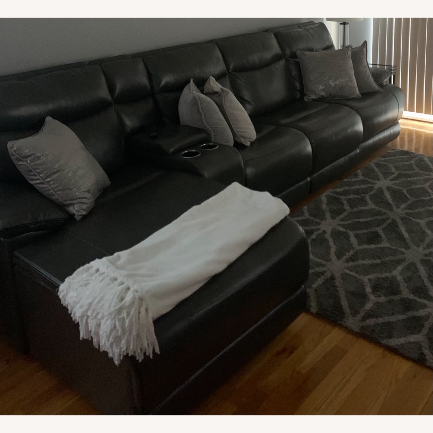 Bobs Furniture Grey Sectional - image-1