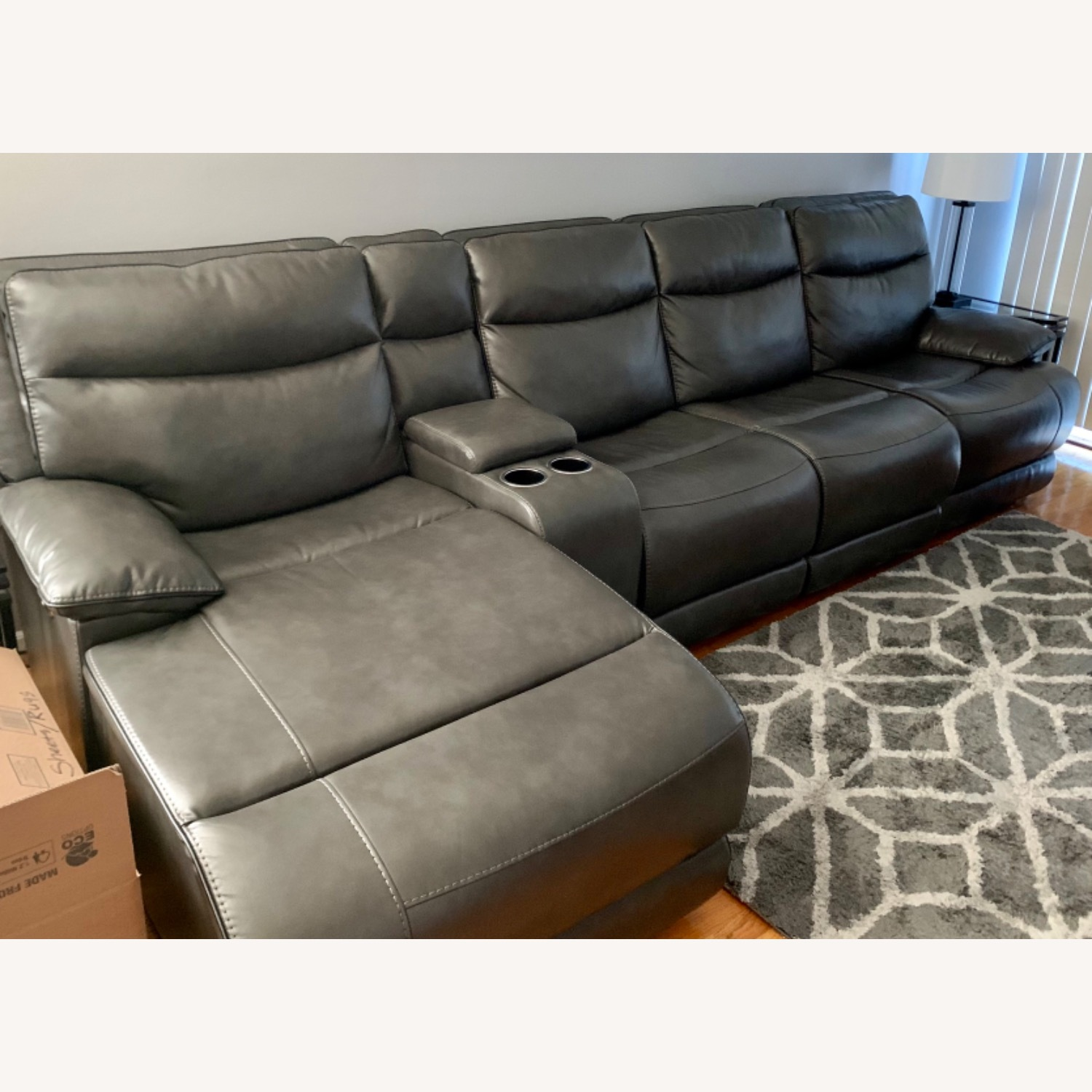 Bobs Furniture Grey Sectional - image-2
