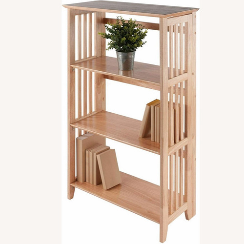 Used Winsome Mission Solid Wood 4 Tier Folding Shelf for sale on AptDeco